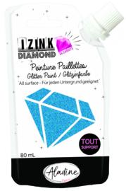 IZINK Diamond glitterverf/pasta 24 karaat- 80 ml, blauw