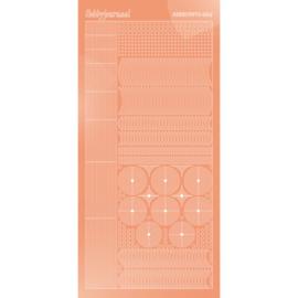 Hobbydots sticker - Mirror - Salmon