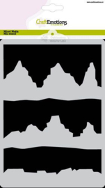 CraftEmotions Mask stencil Arctic Winter - bergen A5 Carla Creaties