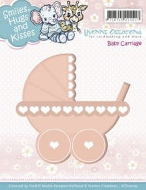 Die - Yvonne Creations - Smiles, Hugs and Kisses - Baby Carriage