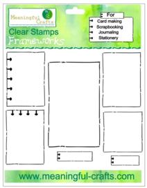 Meaningfull Crafts - Stempelset Frameworks