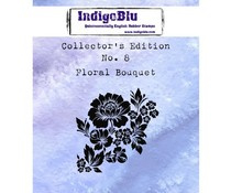 IndigoBlu Collectors Edition 8 Rubber Stamp - Floral Bouquet (IND0361)