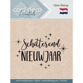 Card Deco Essentials   CDECS014  - Clear Stamps - Schitterend Nieuwjaar