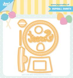 Joy! stencil - Jocelijne Design - Gumball Sweets 6002/1366