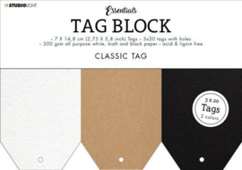 Studio Light Tag Block Essentials Classic  148x210mm