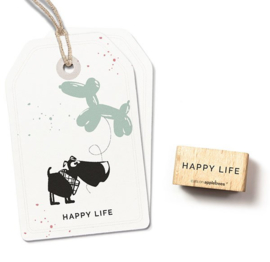 Cats on Appletrees - 27489  - Stempel - Happy life