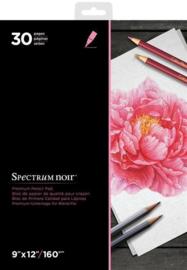 Spectrum Noir Spectrum Noir 9x12 Inch Premium Pencil Paper Pad (SPECN-PPAD9)