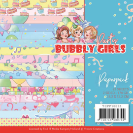 Yvonne Creations  - Paperpack - Bubbly Girls - Party YCPP10031