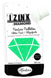 IZINK Diamond glitterverf/pasta - 80 ml, turquoise