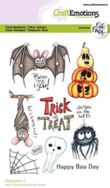 CraftEmotions clearstamps A6 - Halloween 1 (Eng) Carla Creaties