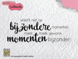 Nellie Snellen - Clear stamp DutchSentiments - wacht niet op bijzondere 85x33 mm
