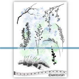 Katzelkraft - Herbes Folles - Rubber Stamp - KTZ272