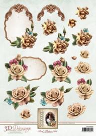 3D Knipvel - Ann Paper Art - Champagne Rose APA3D005