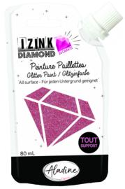 IZINK Diamond glitterverf/pasta 24 karaat- 80 ml, donkerroze
