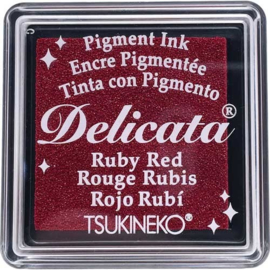 Delicata Rubby red Small inkpad DE-SML-325