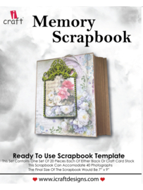 icraft - Memory Scrapbook  Black - Ready to Use Scrapbook Template.