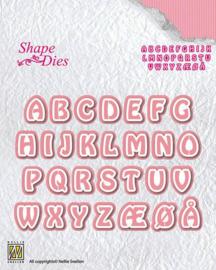 "Nellies snellen SD080 Shape Dies ""Alphabet-3"""