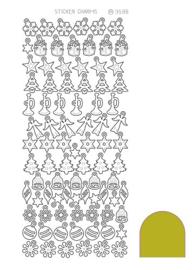 Sticker Charm Christmas - Mirror Goud