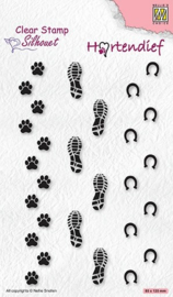 """SIL095 CLEAR STAMPS HARTENDIEF SERIE """"FOOTPRINTS"""""""