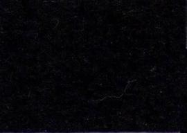 Viltlapjes viscose zwart  20x30cm - 1mm