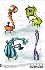 Katzelkraft  - Prehistorics - Jab Collection - Rubber stamps - KTZ246