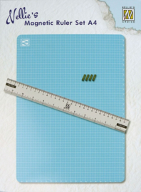 Nellie snellen MAGM001 Magnetic Ruler set A4 (Mat+ruler+magnets)