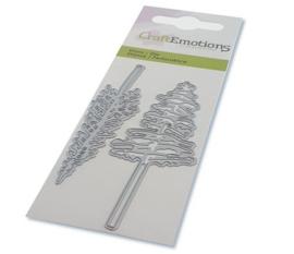 CraftEmotions Die - kerstbomen met hoge stam Card 5x10cm