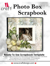 icraft - Photo Box Scrap - Ready to Use Scrapbook Template.