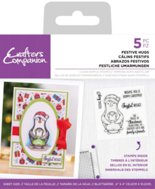 Crafter's Companion - Clearstamp Pinquin - Festive Hugs