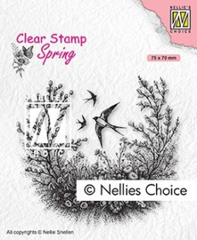 """SPCS016 Clear Stamps Spring """"spring is in the air"""" 75x70mm"""