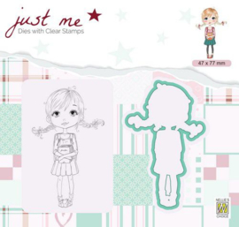 Nellie's Choice Just Me Die + Clear stamp Back to School JMSD002 A4