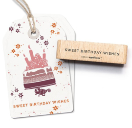 Cats on Appletrees -  27587 - Stempel - Sweet Birthday Wishes