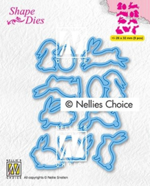 """Nellie choice SD187 Shape Dies """"collection of hares-2"""""""