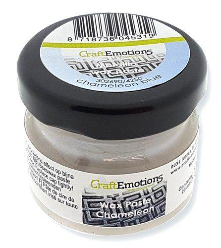 CraftEmotions Wax Paste chameleon - blauw 20 ml