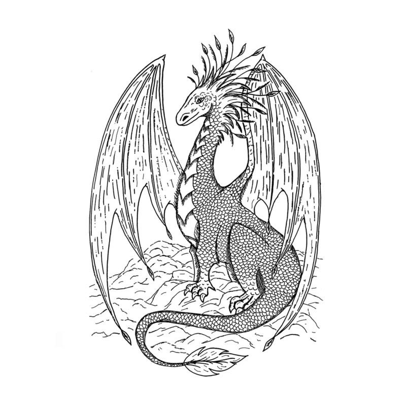 Crafty Individuals CI-580 - 'Gentle Dragon' Art Rubber Stamp