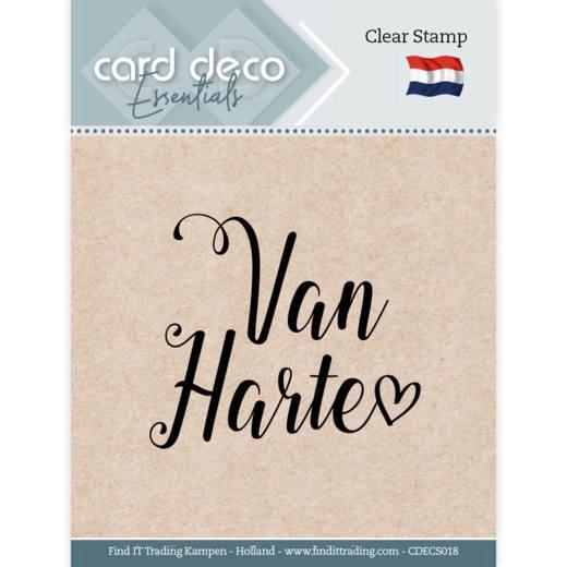 Card Deco Essentials - Clear Stamps - Van Harte