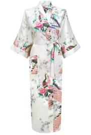 Chinese Kimono wit met opdruk dames