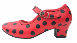 Spaanse schoenen rood zwart