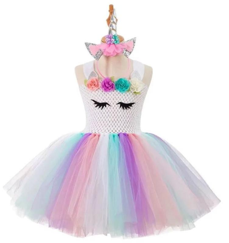 Eenhoorn Unicorn jurk Luxe Prinsessen + GRATIS haarband