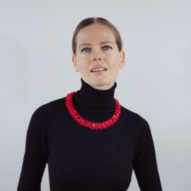Necklace Scarlet in red