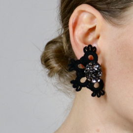 Earrings Diana with Swarovski crystals