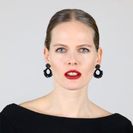 Earrings Kim with Swarovski crystals