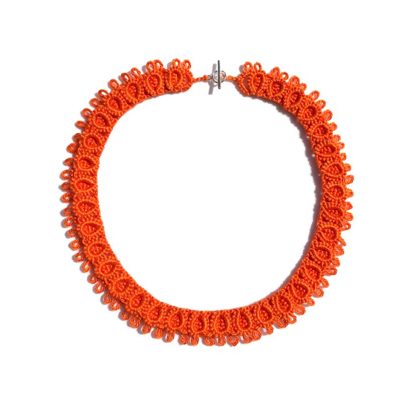 Necklace Diana in orange