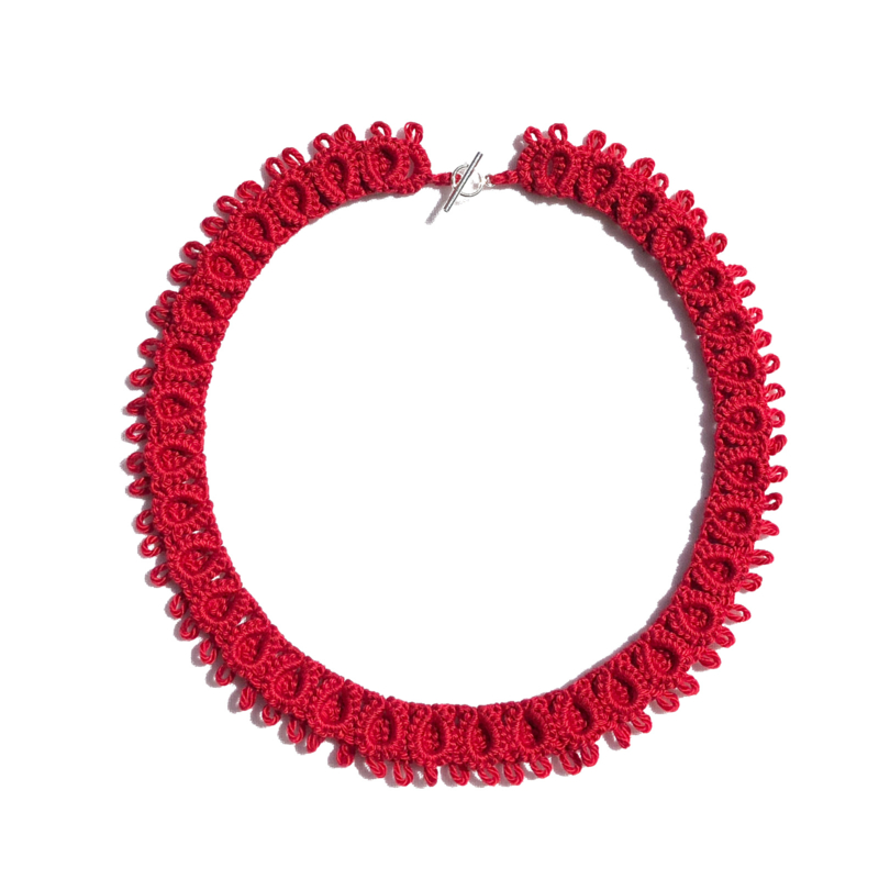 Necklace Diana in red