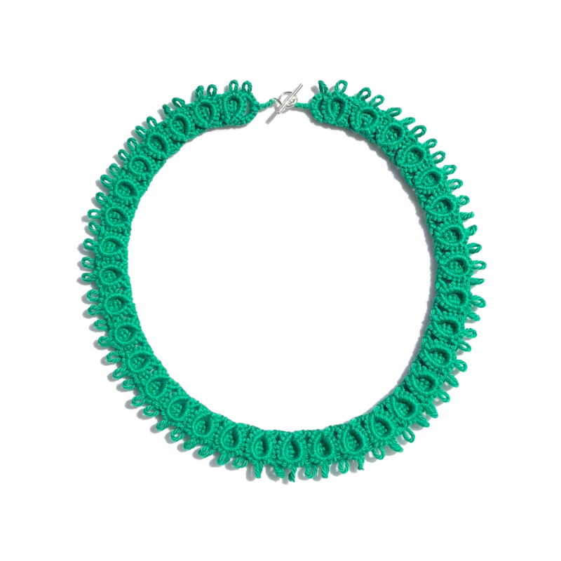 Necklace Diana in green