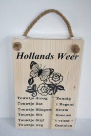 Hollands weerbericht> roos & vlinder