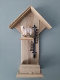 Thermometerhuisje schaapje staand