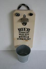 Bier verdwijnt waar deze kerel verschijnt