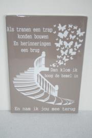 Tekstbord Als tranen een trap konden bouwen