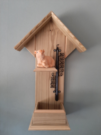 Thermometerhuisje varken liggend